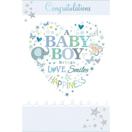 PK6 C75 CARDS GREETINGS STOCK CONTROL BABY BOY