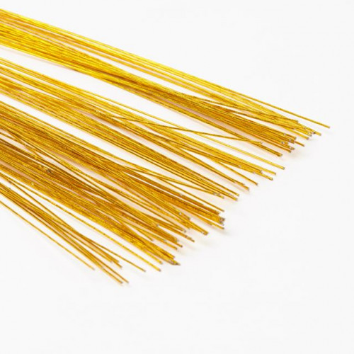 0.9Mmx50Cm, 250G Metallic Gold Paper Covered Wire