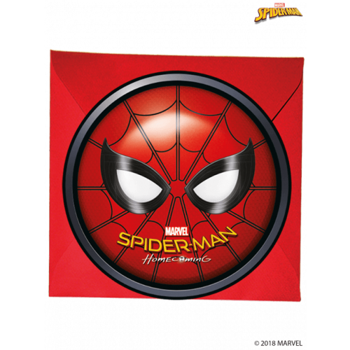 INVITATIONS & ENVELOPES 6PK SPIDERMAN HOMECOMING