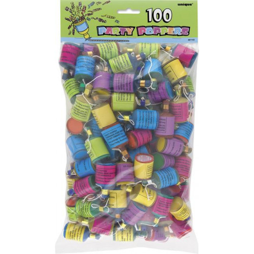 100 Party Poppers