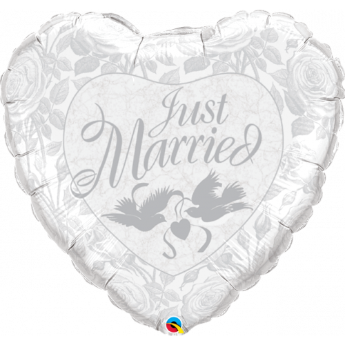 """36"""" Just Married Heart"""