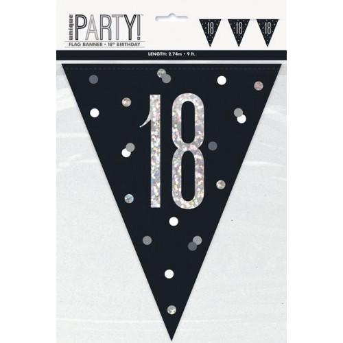 18 Flag Banner 9ft