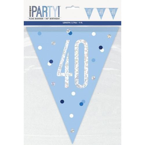 40 Flag Banner 9ft