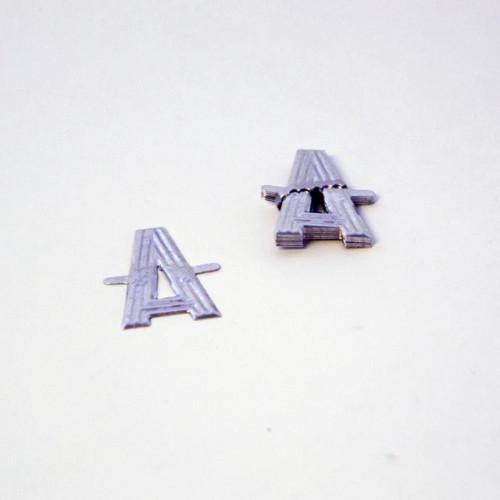 4Cm Silver Aluminium Letter A