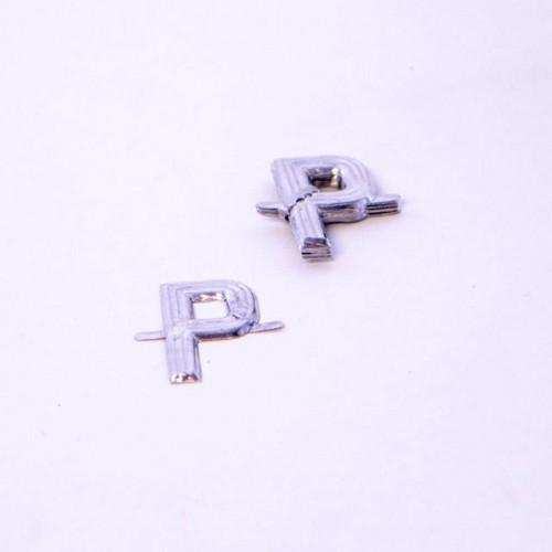 4Cm Silver Aluminium Letter P