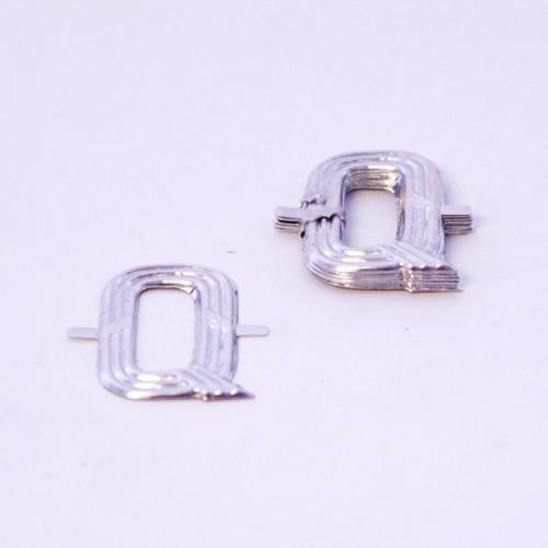 4Cm Silver Aluminium Letter Q