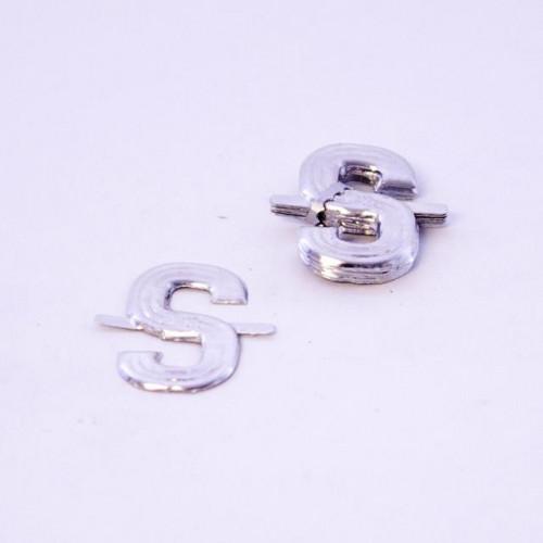 4Cm Silver Aluminium Letter S