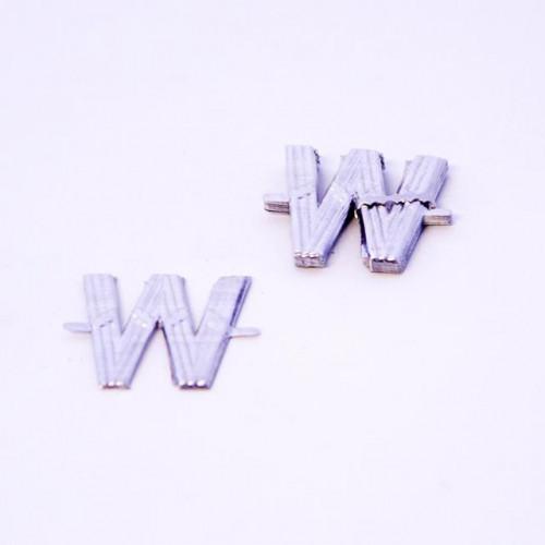 4Cm Silver Aluminium Letter W