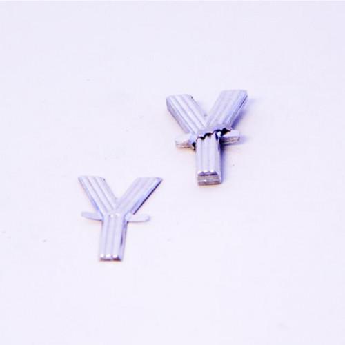 4Cm Silver Aluminium Letter Y