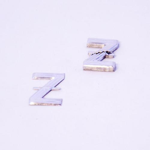 4Cm Silver Aluminium Letter Z