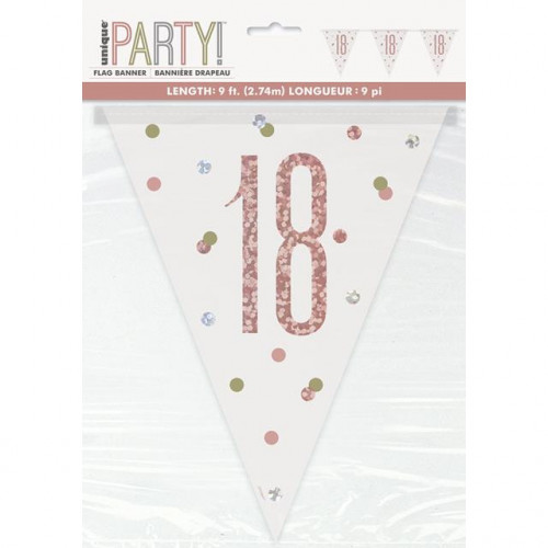 Glitz 18 Prismatic Pennant Banner
