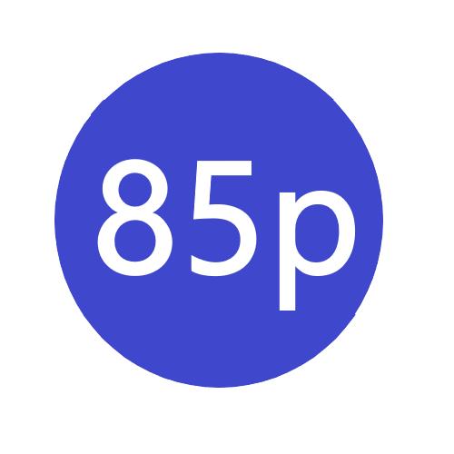 85p x 1000 stickers per roll x5