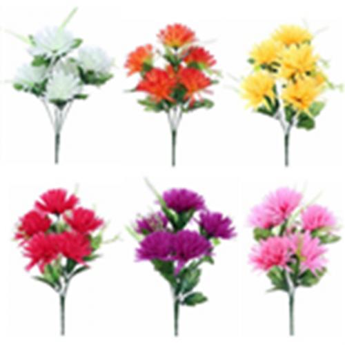 Spiky Chrysanthemum Bush (6 Heads)