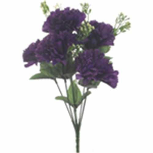 Carnation Bush With Gyp (7 Heads) Purple
