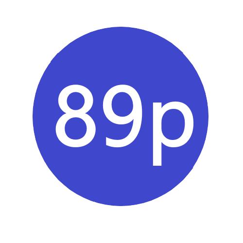 89p x 1000 stickers per roll x5
