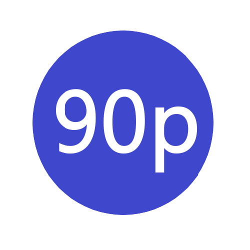 90p x 1000 stickers per roll x5