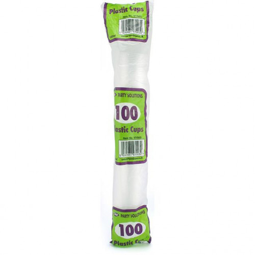 DRINK CUPS CLEAR PLASTIC 180ML 100PK