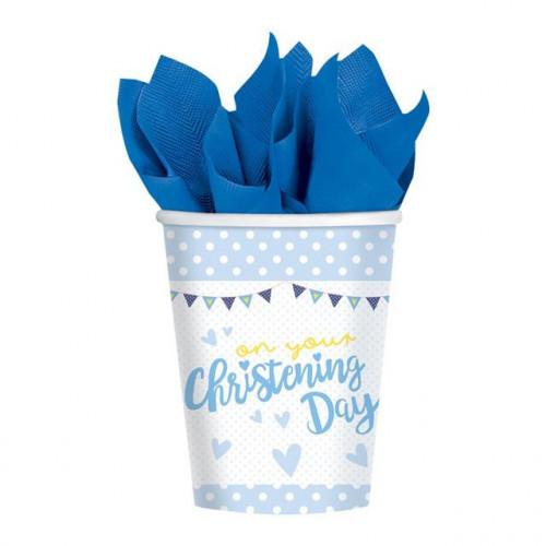 CHRISTENING BLUE CUP 266ML