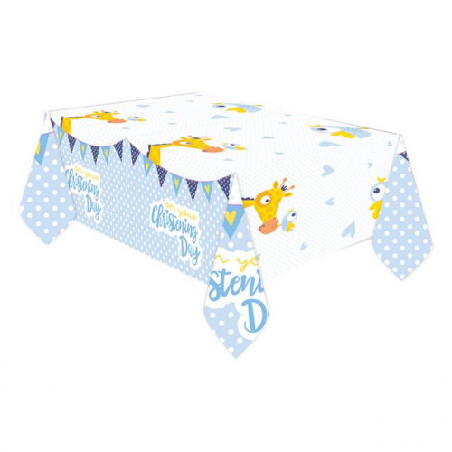 CHRISTENING BLUE TABLECOVER