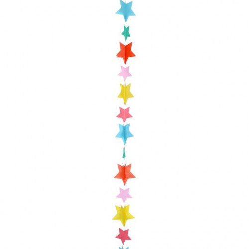 BALLOON TAIL-STAR MULTICOLOUR 1.2M