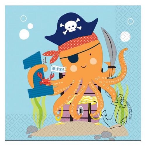 Ahoy Birthday Napkins