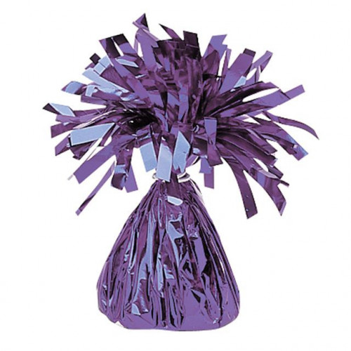 BALLOON WEIGHT FOIL PURPLE 12 PIECES