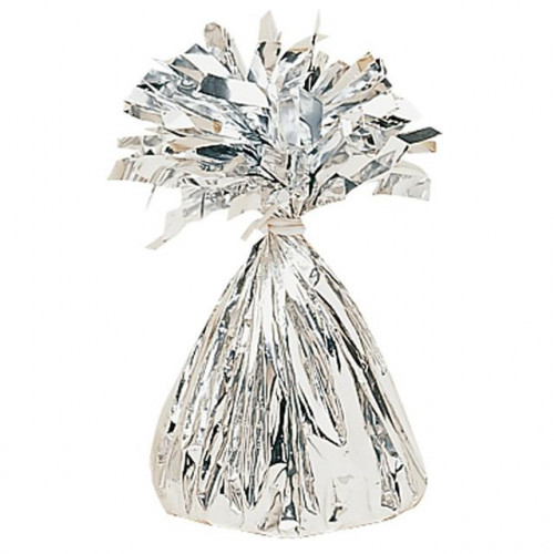 BALLOON WEIGHT FOIL SILVER 12 PIECES
