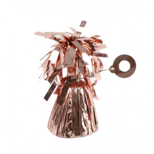 BALLOON WEIGHT FOIL ROSE GOLD 12 PIECES