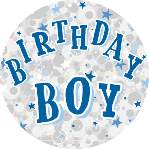 Birthday Boy Large Badge