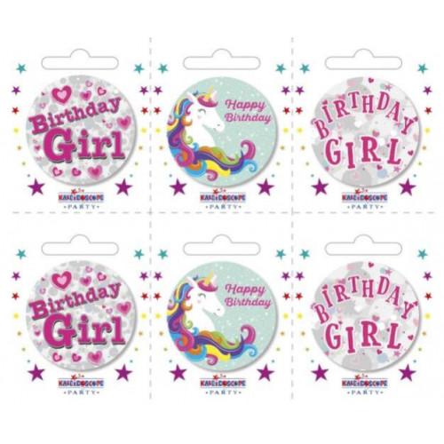 Birthday Girl Pk6 Small Badges