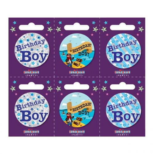 Birthday Boy Pk6 Small Badges