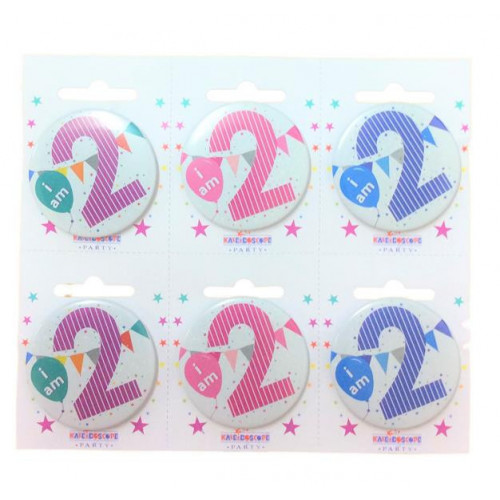 Age 2 Pk6 Small Badges