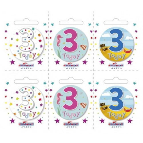 Age 3 Pk6 Small Badges