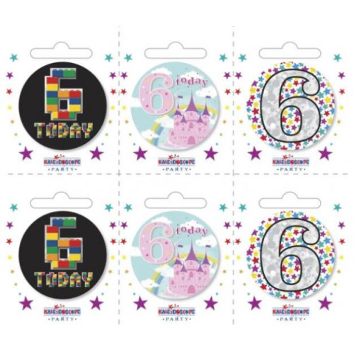 Age 6 Pk6 Small Badges