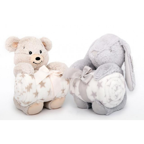 20X25 SOFT TOY WITH BLANKET