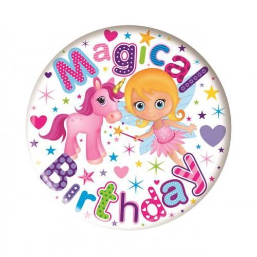 Magical Birthday Pk6 Small Badges