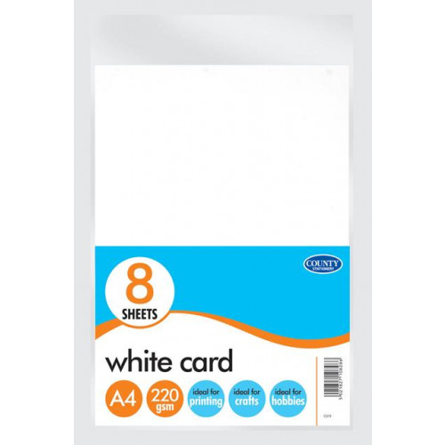 White Card 8 sheets