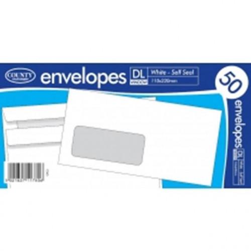 50 DI Window Self Seal Envelopes