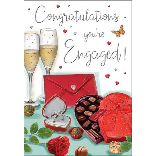 PK6 C75 CARDS Engagement Chocolates Special Thoughts NETT