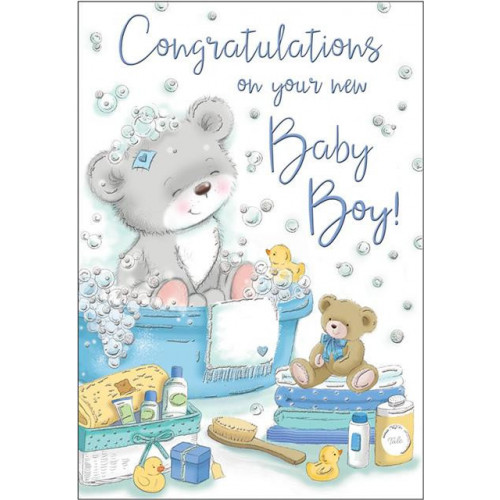 PK6 C75 CARDS Baby Boy Bear Special Thoughts NETT