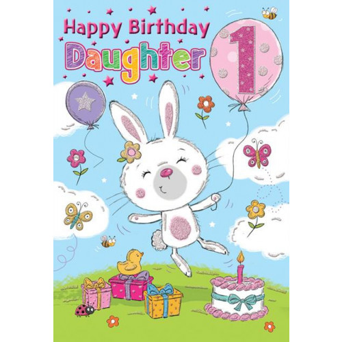 PK6 C75 CARDS Age 1 Daughter Bunny Special Thoughts NETT