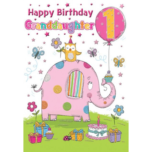 PK6 C75 CARDS Age 1 Granddaug Elephant Special Thoughts NETT