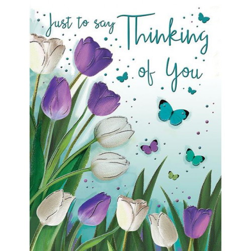 PK6 C55 CARDS Thinking of You Tulips Special Thoughts NETT