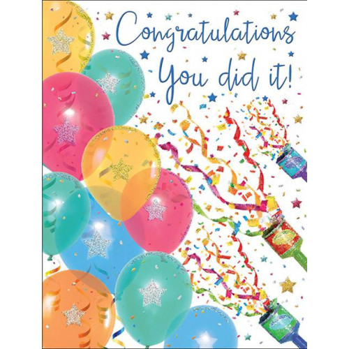 PK6 C55 CARDS Congratulations Ballons & streamers Special Thoughts NETT