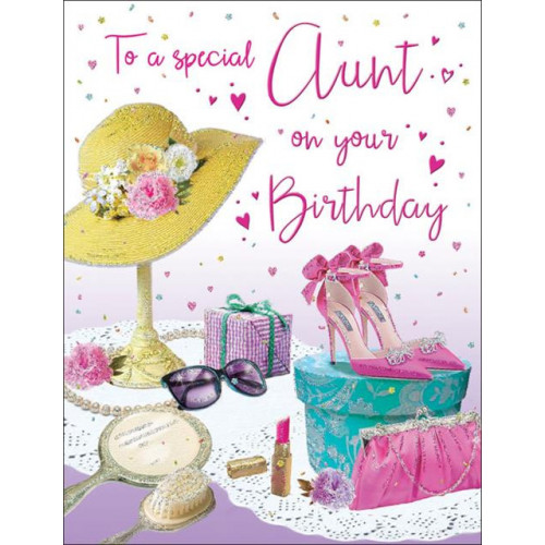 PK6 C55 CARDS Aunt Hat & shoes Special Thoughts NETT