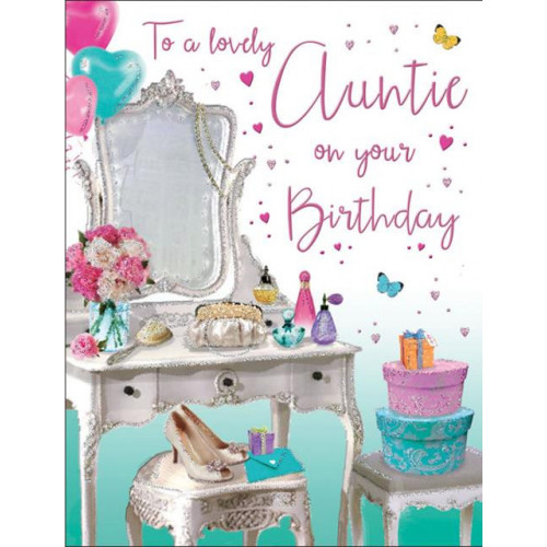 PK6 C55 CARDS Auntie Dressing table Special Thoughts NETT