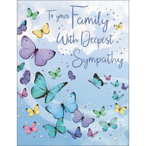 PK6 C55 CARDS Sympathy Family Butterflies Special Thoughts NETT
