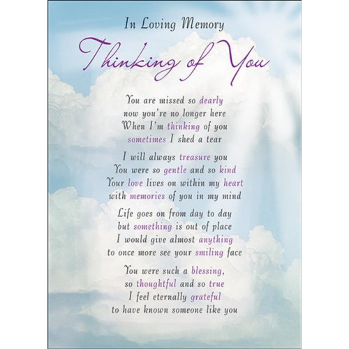 PK6 GRAVE CARDS Special Thoughts Thinking of you  120 x 165 mm