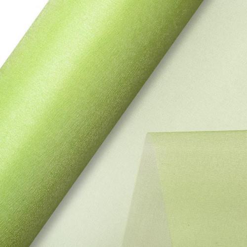 Organza Snow Sheer Roll 290Mmx25M Lime