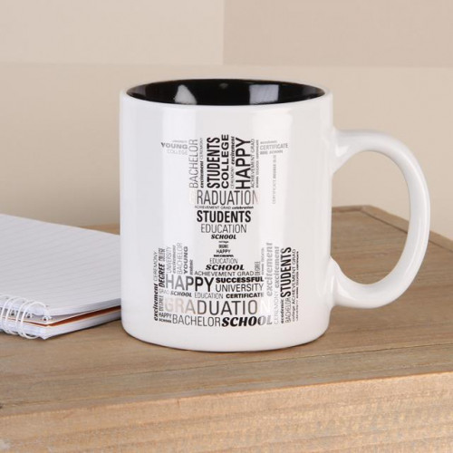 GRADUATION TYPOGRAPHY MUG
